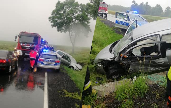 Wypadek w okolicach Modlęcina [FOTO]