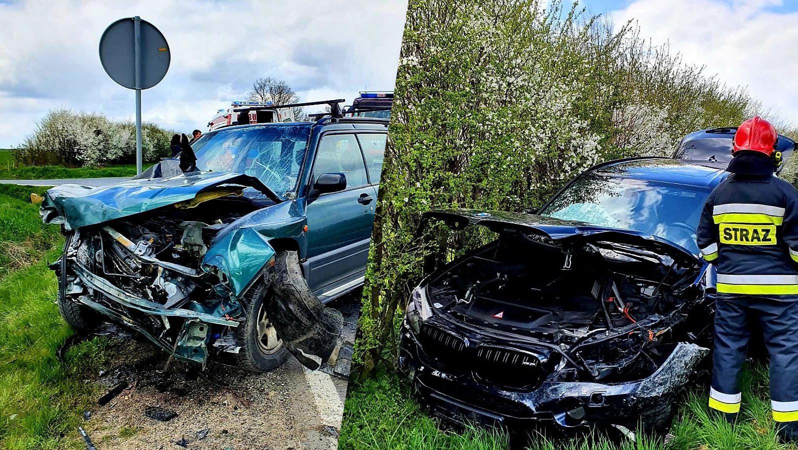 Wypadek w okolicach skrzyżowania na Olszany i Stanowice [FOTO]