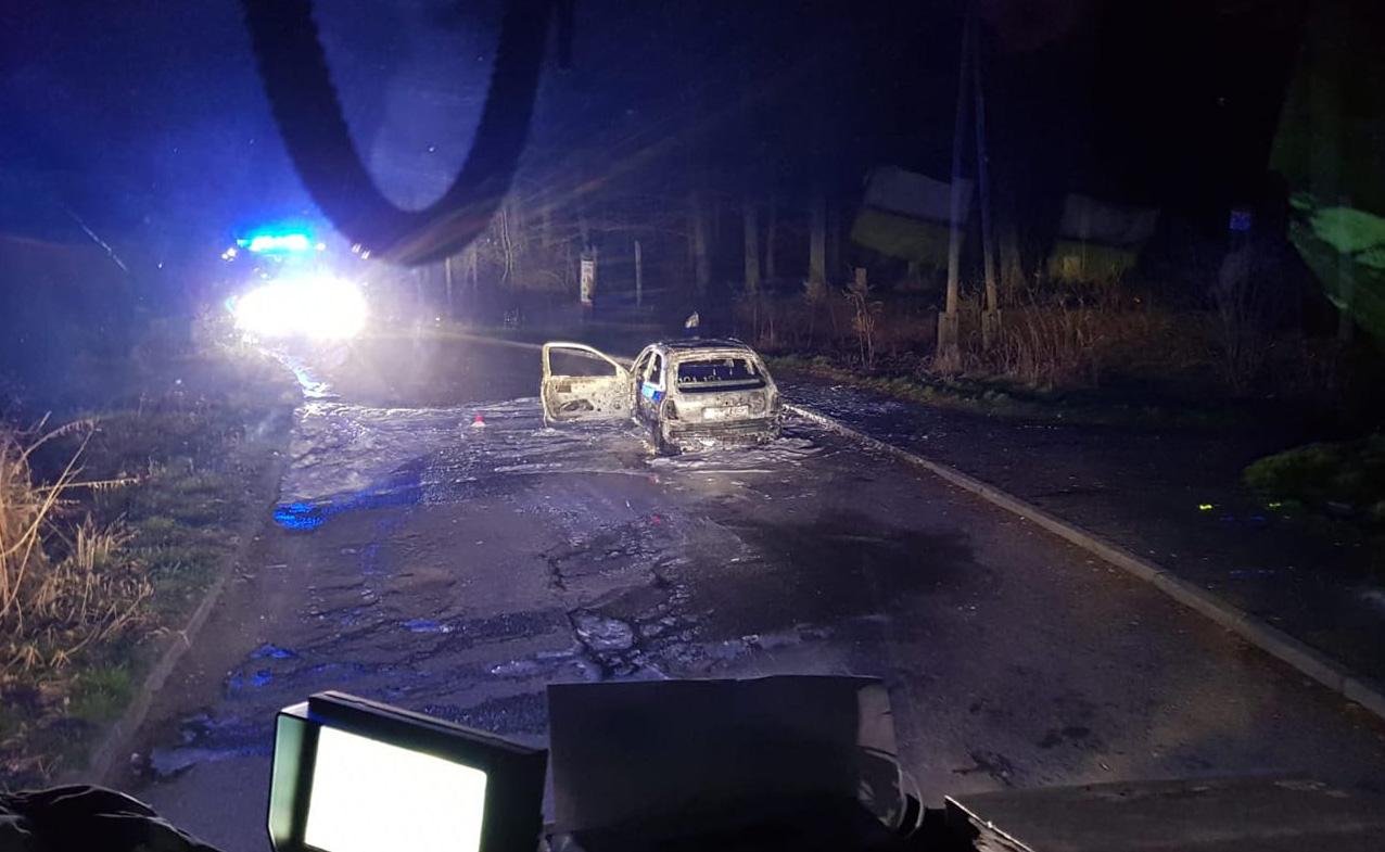 Spłonął samochód osobowy! [FOTO]