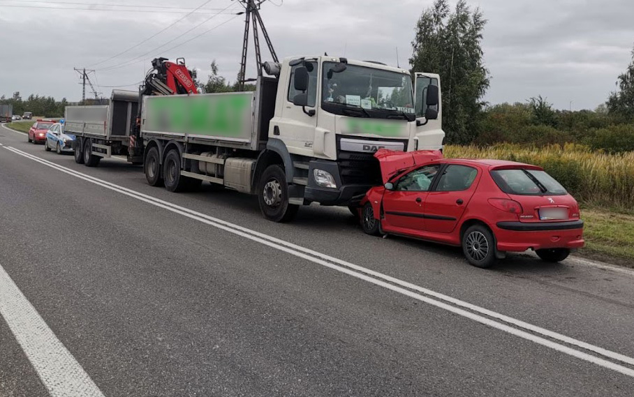Wypadek w okolicach Ruska [FOTO]