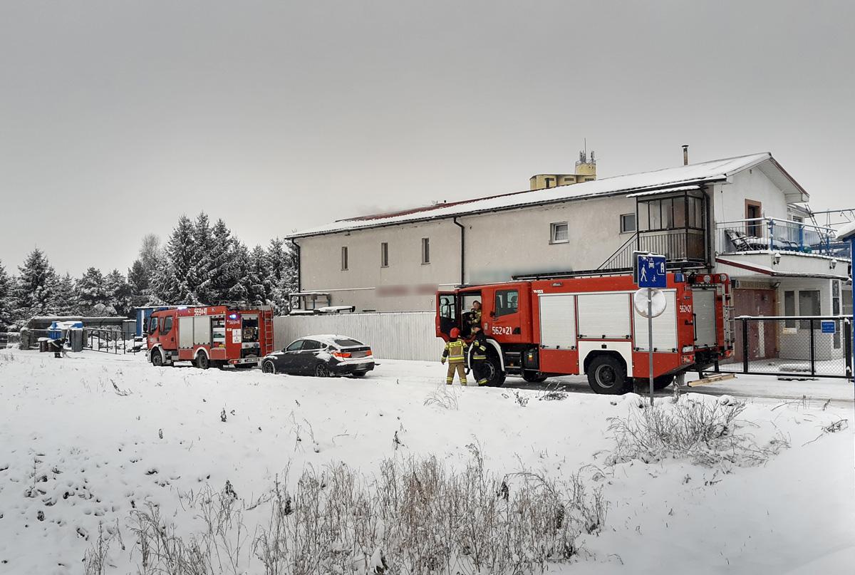 Pożar poddasza przy Alei Wojska Polskiego [FOTO]
