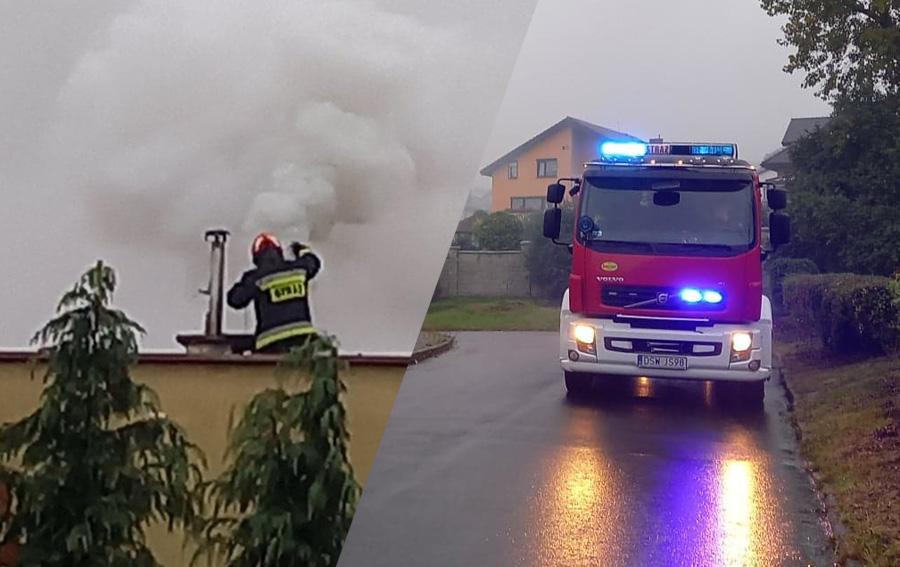 Interwencja strażaków na ul. Kwarcowej [FOTO]