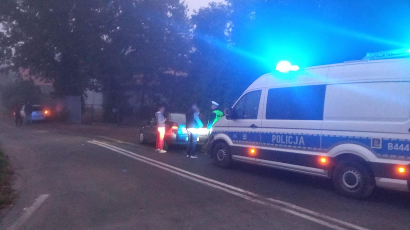 Poranna kolizja na ulicy Rybnej w Strzegomiu