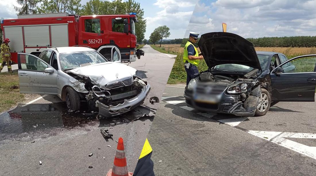 Wypadek między Modlęcinem, a Olszanami! [FOTO]