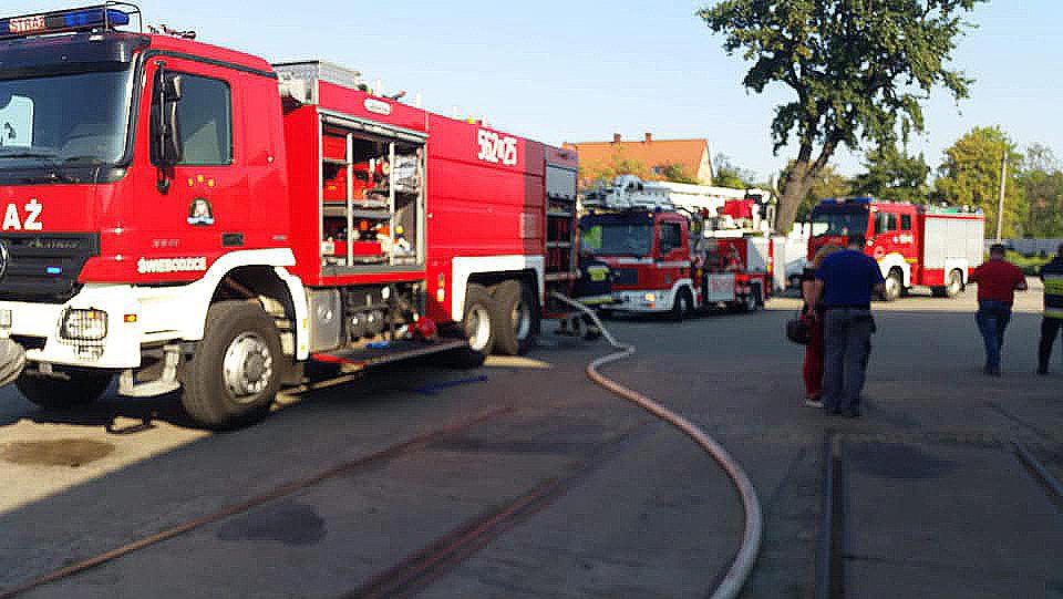 Pożar na ul. Jeleniogórskiej