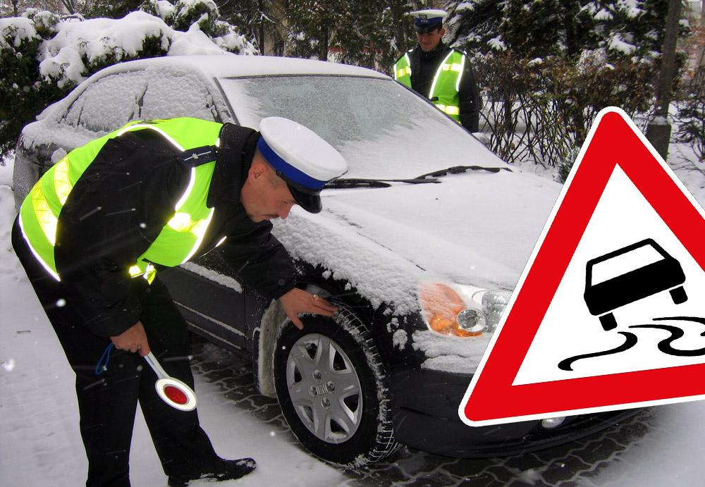 Policja ostrzega przed zimą na drogach!