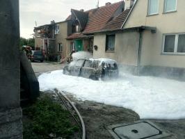 Spłonął samochód przy ul. Polnej