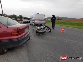 Zderzenie osobówki z motocyklem [FOTO]