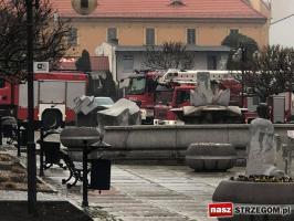 Strażacy w strzegomskim banku! [FOTO]