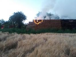 Pożar słomy w Rogoźnicy
