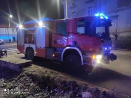 Nocny pożar w kamienicy przy ul. Tadeusza Kościuszki [FOTO]