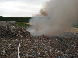 Pożar składowiska odpadów [FOTO]