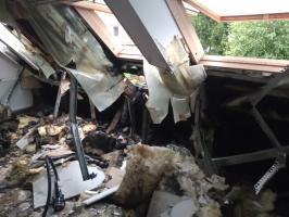 Piorun uderzył w dom na ul. Zielonej! [FOTO]